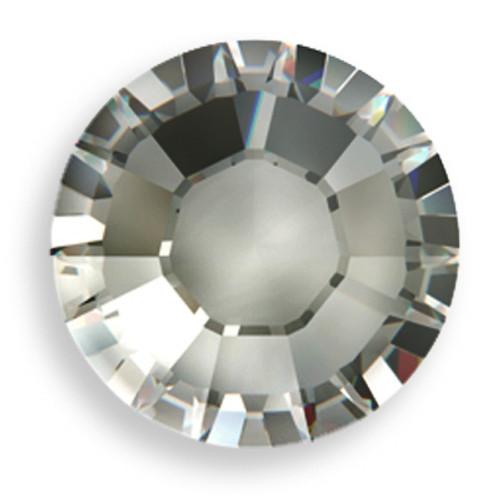 Swarovski 2028 16ss(~3.90mm) Xilion Flatback Black Diamond   Hot Fix