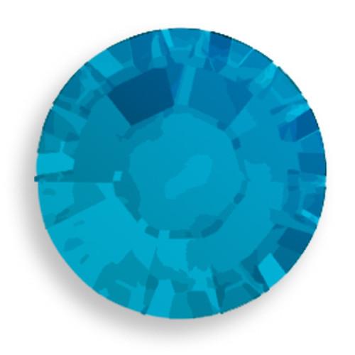 Swarovski 2028 16ss(~3.90mm) Xilion Flatback Caribbean Blue Opal  Hot Fix