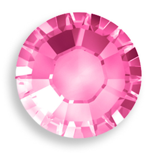 Swarovski 2028 8ss(~2.45mm) Xilion Flatback Indian Pink   Hot Fix