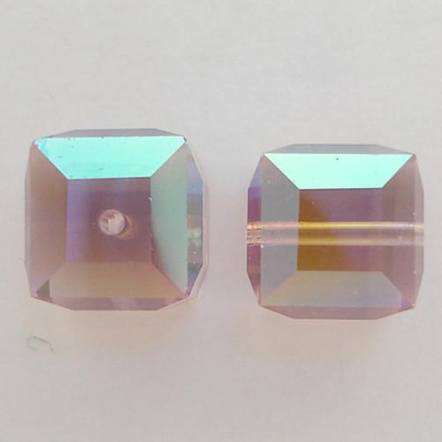 Swarovski 5601 4mm Cube Beads Light Amethyst AB