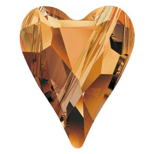 Swarovski 5743 17mm Wild Heart Beads Crystal Copper
