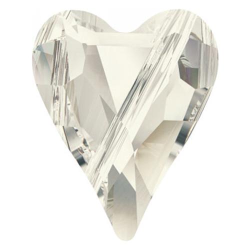 Swarovski 5743 17mm Wild Heart Beads Crystal Silver Shade