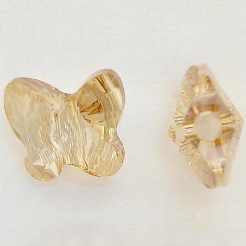 Swarovski 5754 6mm Butterfly Beads Crystal Golden Shadow