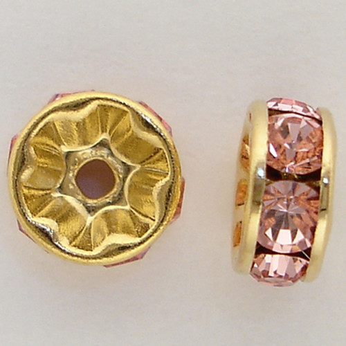 Swarovski 5820 4mm Rhinestone Rondelles Light Rose
