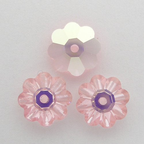 Swarovski 3700 8mm Marguerite Beads Light Rose AB
