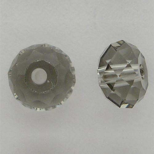 Swarovski 5040 6mm Rondelle Beads Black Diamond