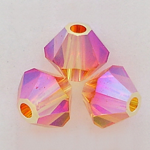 ee433592a Swarovski 5328 4mm Fireopal AB 2x Bead | Rainbows Of Light