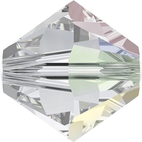 Swarovski 5328 10mm Xilion Bicone Beads Crystal AB   (6 pieces)