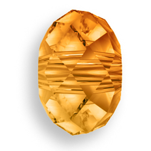 Swarovski 5041 12mm Rondelle Beads Large Hole Crystal Copper