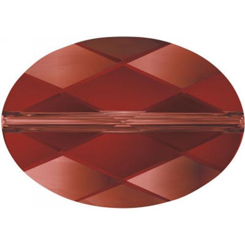 Swarovski 5050 22mm Oval Beads Crystal Red Magma