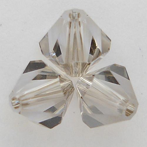 Swarovski 5328 6mm Xilion Bicone Beads Crystal Satin