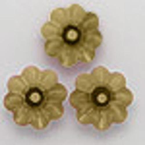 Swarovski 3700 8mm Marguerite Beads Crystal Tabac Foiled