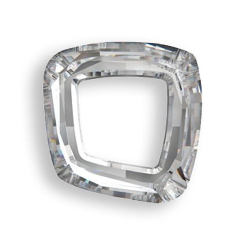 Swarovski 4437 30mm Cosmic Square Ring Beads Crystal Silver Shade