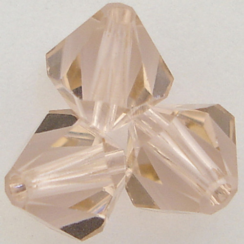Swarovski 5301 3mm Bicone Beads Vintage Rose