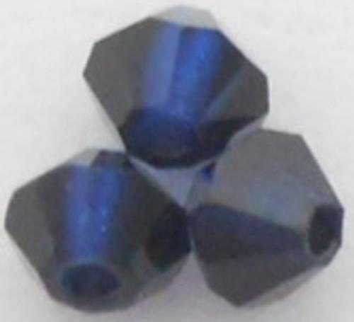 Swarovski 5328 5mm Xilion Bicone Beads Dark Indigo