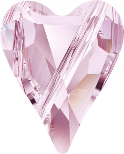 Swarovski 5743 17mm Wild Heart Beads Rosaline
