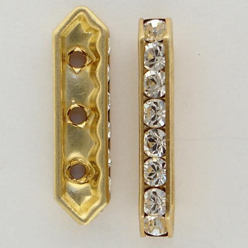 Swarovski 5822 19mm Bar Rondelles Crystal