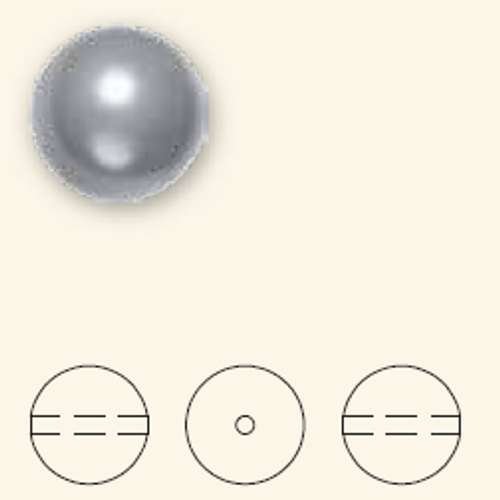 Swarovski 5811 14mm Large Hole Pearls Black (50  pieces)