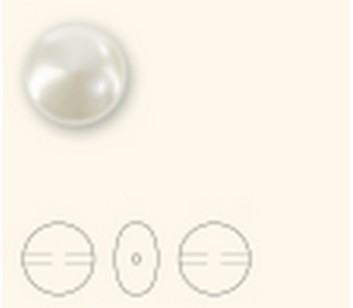 Swarovski 5860 16mm Crystal Coin Pearl Crystal Rosaline Pearl  ( 50 pieces)