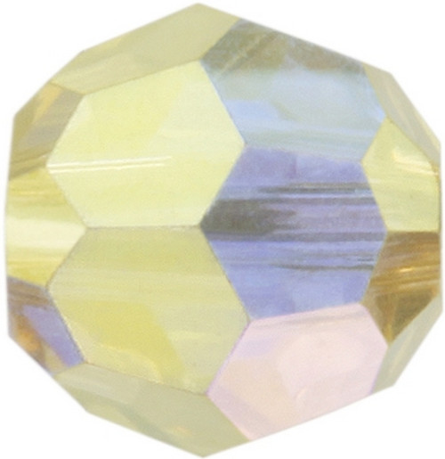 Swarovski 5000 8mm Round Beads Jonquil AB Fully Coated  ( 288 pieces)