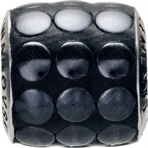 Swarovski 80701 9.5mm BeCharmed Pavé Metallics Beads with BLACK POLISHED Stones on Black base (12 pieces)