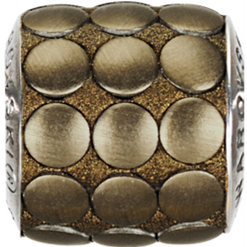 Swarovski 80701 9.5mm BeCharmed Pavé Metallics Beads with BRONZE BRUSHED Stones on Bronze base (12 pieces)