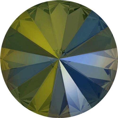 Swarovski 1122 12mm Rivoli Round Stones Crystal Iridescent Green (144 pieces)
