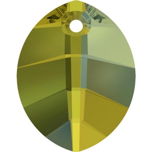 Swarovski 6734 23mm Pure Leaf Pendants Crystal Iridescent Green (30 pieces)