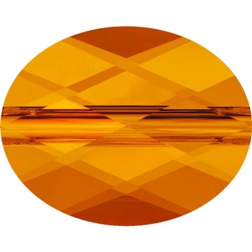 Swarovski 5051 8mm Mini Oval Beads Tangerine (288 pieces)