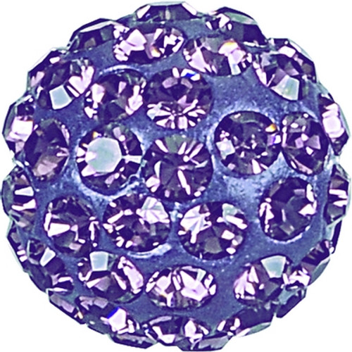 Swarovski 86001 10mm Pave Ball Bead w/ Tanzanite Chatons on Purple base (12 pieces)