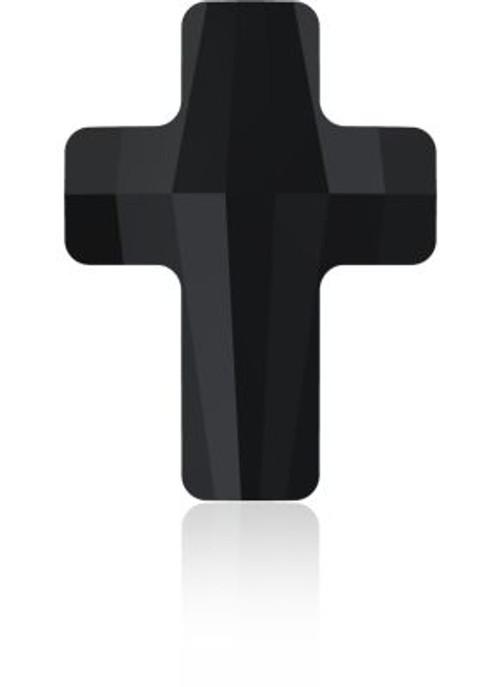Swarovski 5378 14mm Cross Beads Jet
