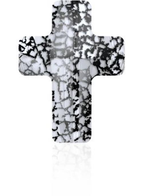 Swarovski 5378 18mm Cross Beads Crystal Black Patina