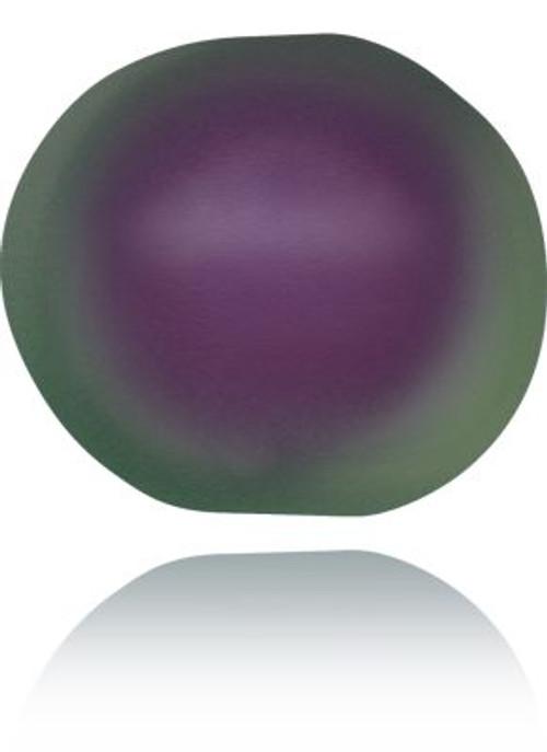 Swarovski 5840 6mm Baroque Pearls Crystal Iridescent Purple Pearl