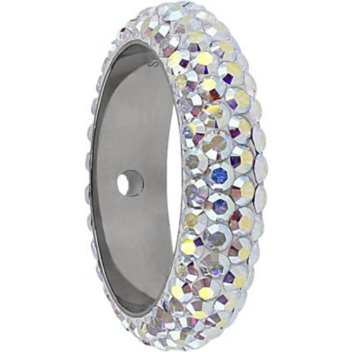 Swarovski 85001 14.5mm BeCharmed Pave Thread Ring Crystal AB (6 pieces )