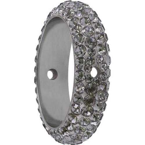 Swarovski 85001 14.5mm BeCharmed Pave Thread Ring Black Diamond (6 pieces )