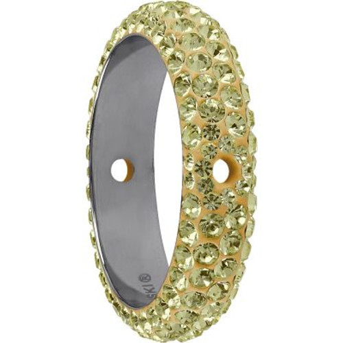 Swarovski 85001 14.5mm BeCharmed Pave Thread Ring Jonquil (6 pieces )