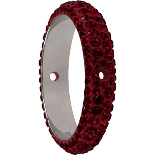 Swarovski 85001 14.5mm BeCharmed Pave Thread Ring Siam (6 pieces )