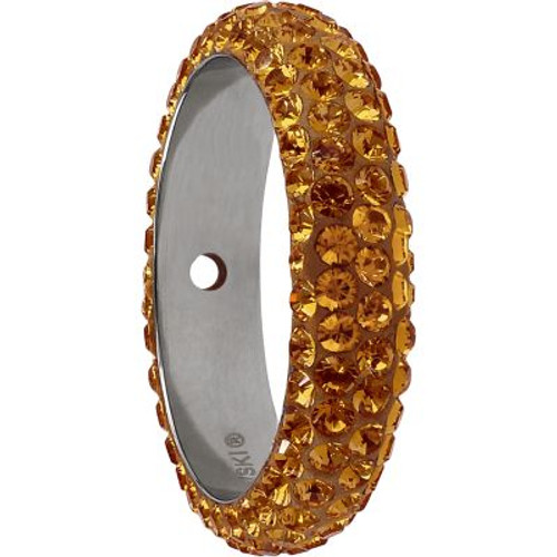 Swarovski 85001 14.5mm BeCharmed Pave Thread Ring Topaz (6 pieces )