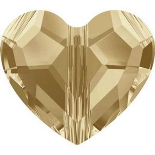 Swarovski 5741 12mm Love Beads Crystal Golden Shadow
