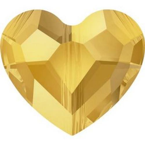 Swarovski 5741 12mm Love Beads Crystal Metallic Sunshine