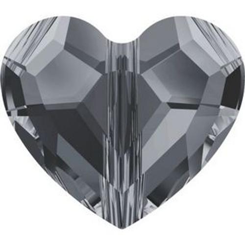 Swarovski 5741 12mm Love Beads Crystal Silver Night