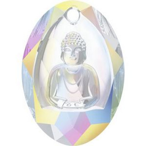 Swarovski 6871 28mm Buddha Pendants Crystal AB