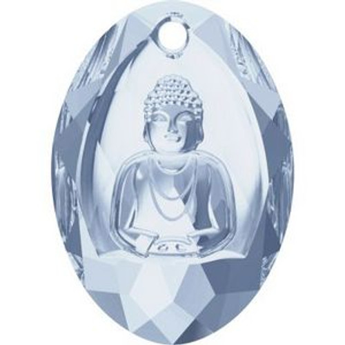 Swarovski 6871 28mm Buddha Pendants Crystal Blue Shade