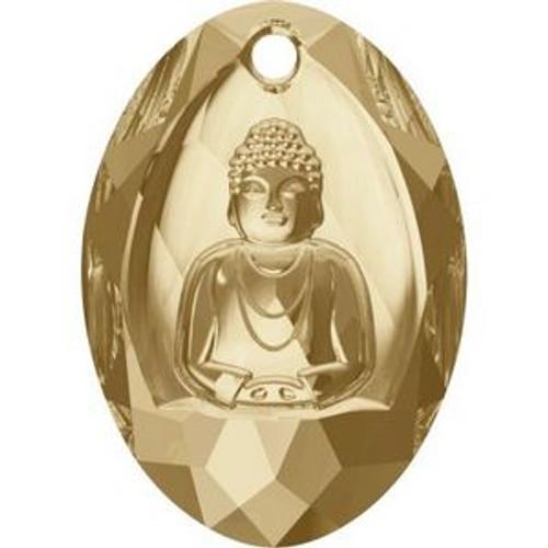 Swarovski 6871 28mm Buddha Pendants Crystal Golden Shadow