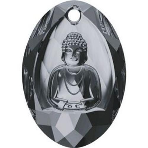 Swarovski 6871 28mm Buddha Pendants Crystal Silver Night