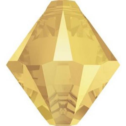 Swarovski 6328 8mm Top Drilled Xilion Bicone Beads Crystal Metallic Sunshine