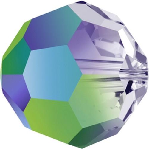 Swarovski 5000 8mm Round Beads Crystal Scarabaeus Green