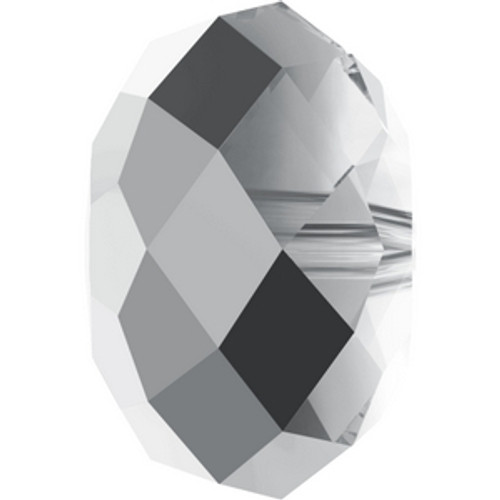 Swarovski 5040 8mm Rondelle Beads Crystal Light Chrome