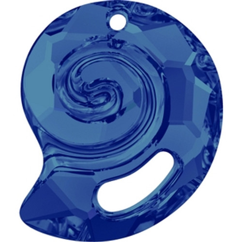 Swarovski 6731 28mm Sea Snail Pendants Crystal Bermuda Blue Pro Lay (1 piece)