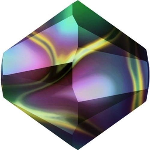 Swarovski 5328 6mm Crystal Rainbow Dark 2X Xilion Bicone Beads Beads